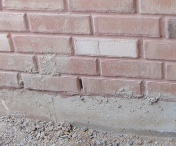 Concrete splatter